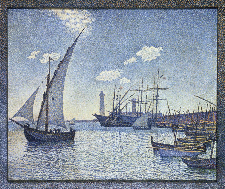 Port Painting - Porte De Cette Les Tartanes by Theo van Rysselberghe