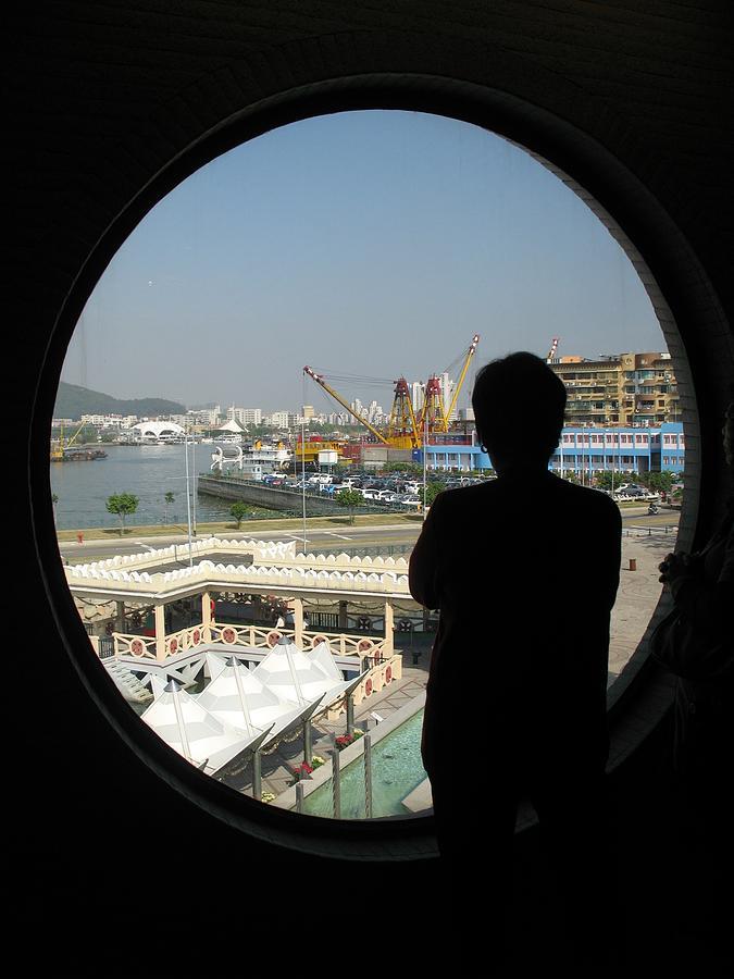 Porthole Silhouette Photograph