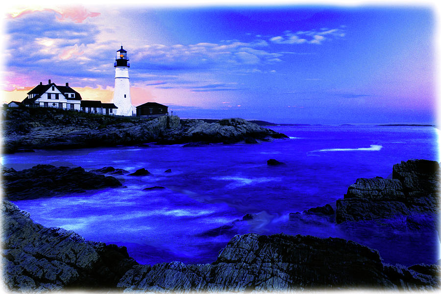 Lighthouse Photograph - Portland Head Lighthouse by Fred Kirchhoff