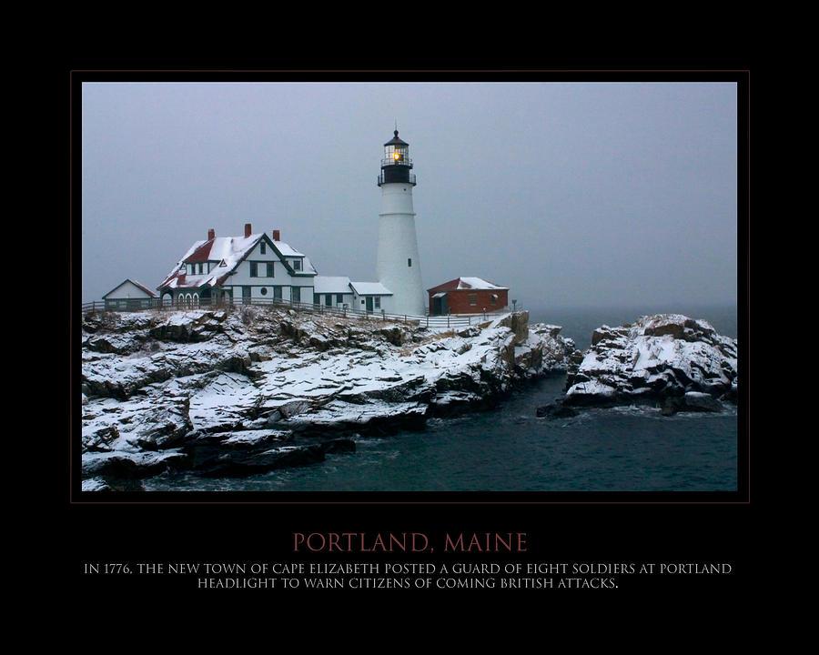 Portland Photograph - Portland Headlight by Jim McDonald Photography
