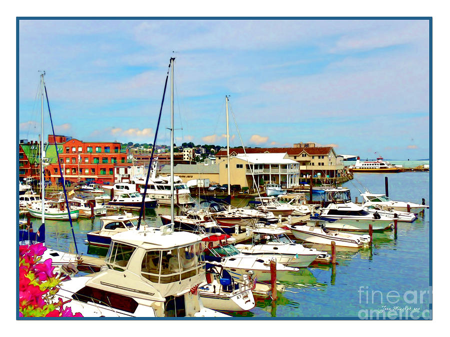 Portland Photograph - Portland Maine Harbor by Joan  Minchak