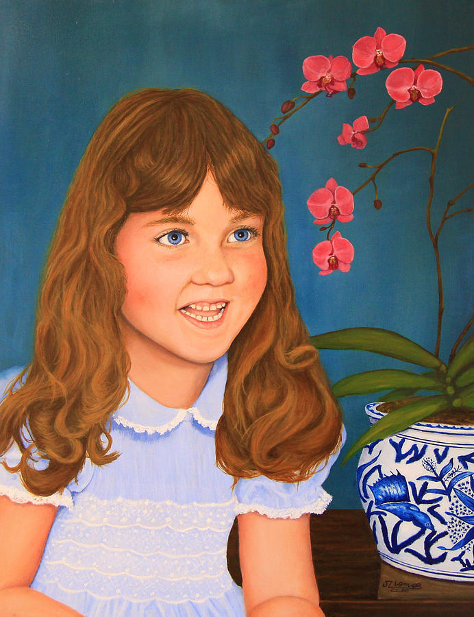 Portrait Painting - Portrail Of A Young Girl by Jim Ziemer