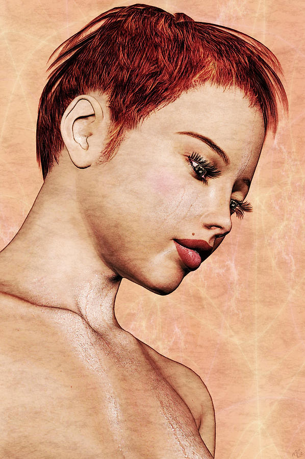 Pin-up Painting - Portrait - No. 10 - Colour by Maynard Ellis