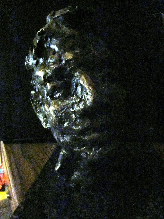 Figure Painting - Portrait Head by Lynnrose Light