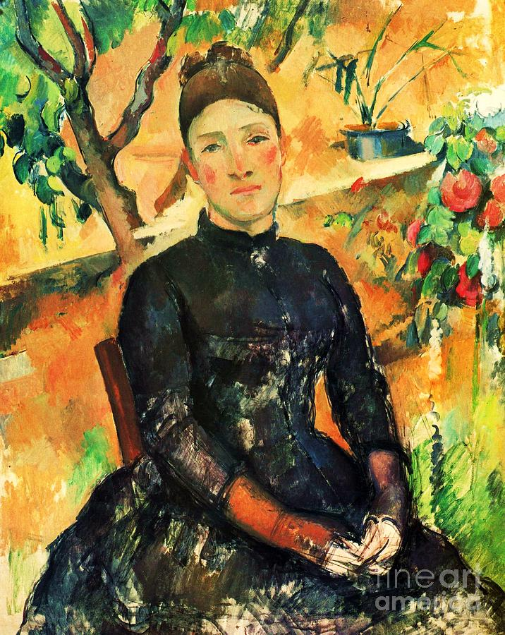 Pd Painting - Portrait Madame Cezanne by Pg Reproductions