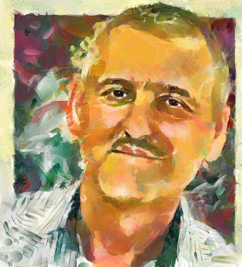 Friend Digital Art - Portrait Of A Painter by Yury Malkov