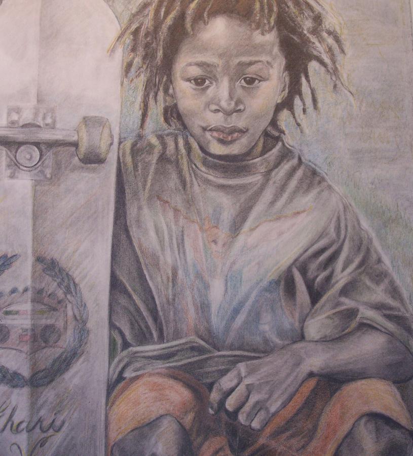 Portrait Drawing - Portrait of a Skater by Joyce McEwen Crawford