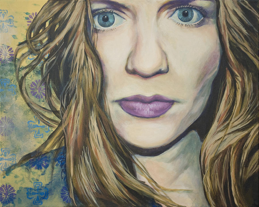 Painting Painting - Portrait Of A Wallflower by Tyler Auman