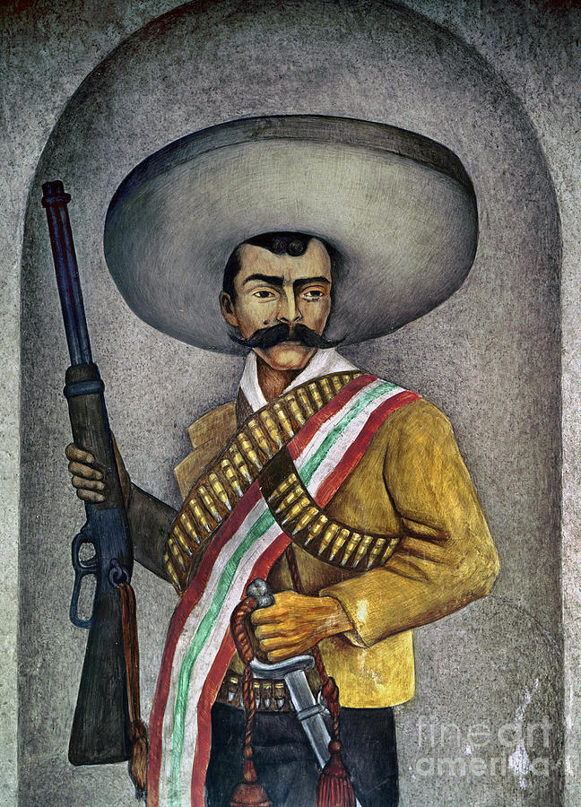 20th Century Photograph - Portrait Of A Zapatista by Granger