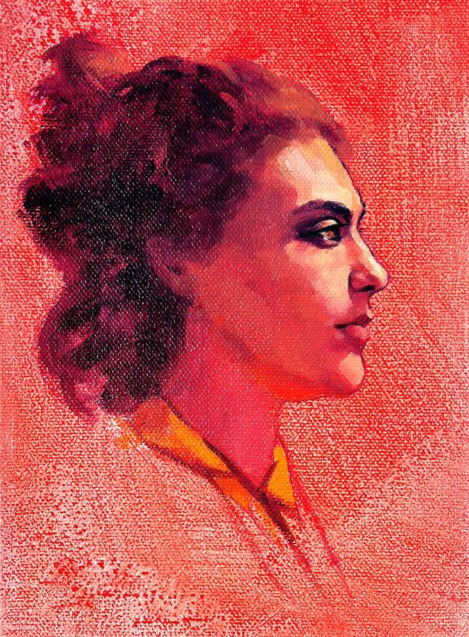Portraits Painting - Portrait Of Alysha by Roz McQuillan