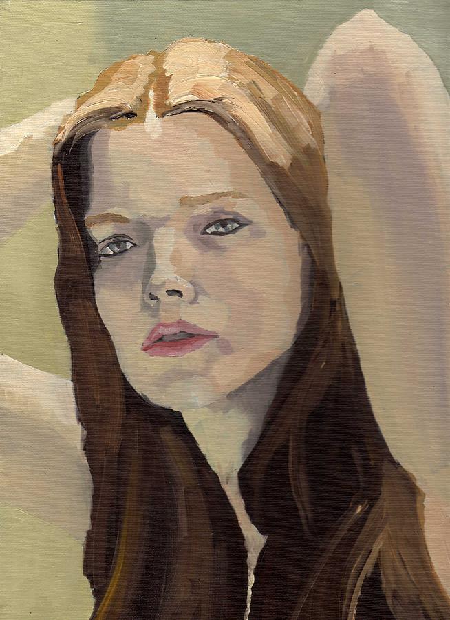 Portrait Painting - Portrait Of Ashley by Stephen Panoushek