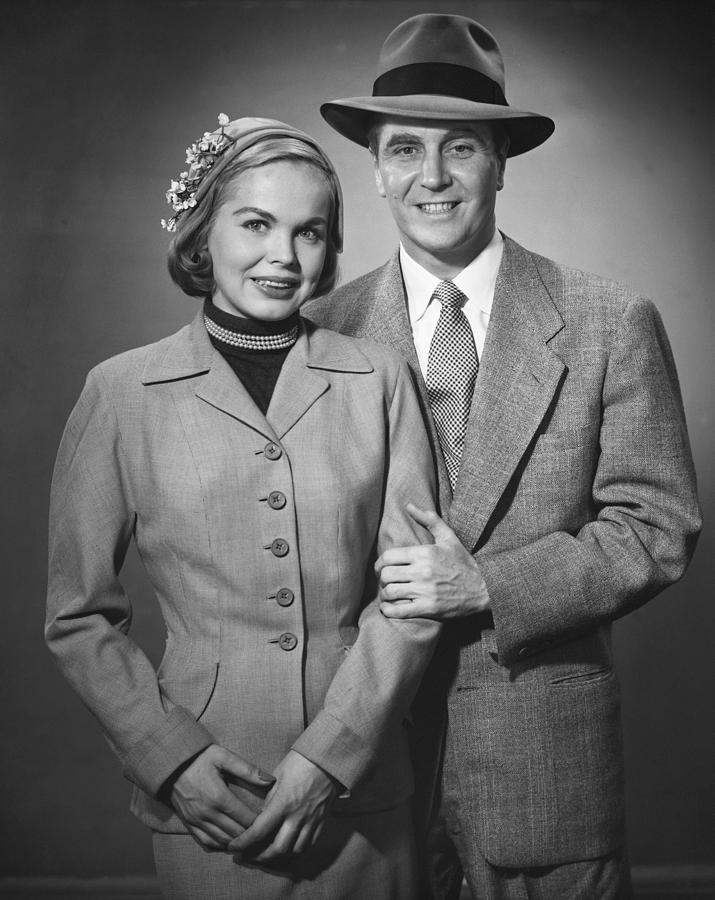 Adult Photograph - Portrait Of Couple by George Marks