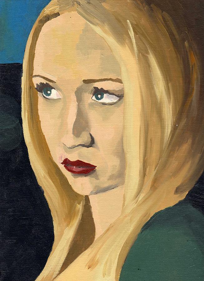 Portrait Painting - Portrait Of Emily by Stephen Panoushek