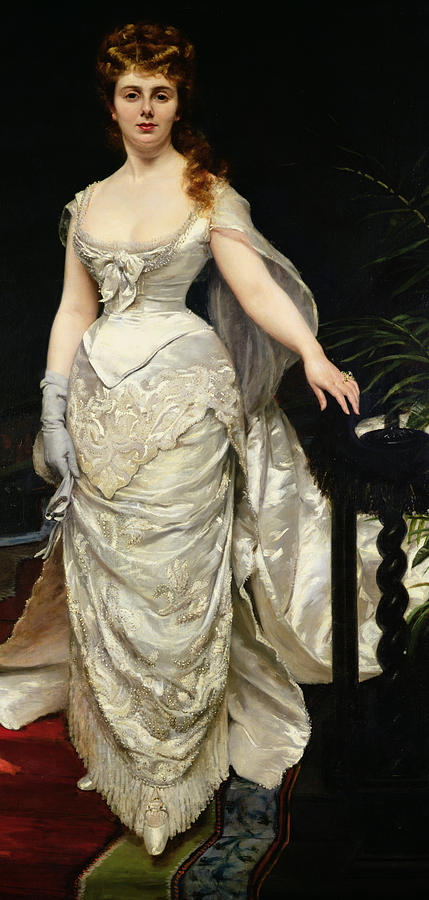 Fashion Painting - Portrait Of Mademoiselle X by Charles Emile Auguste Carolus Duran