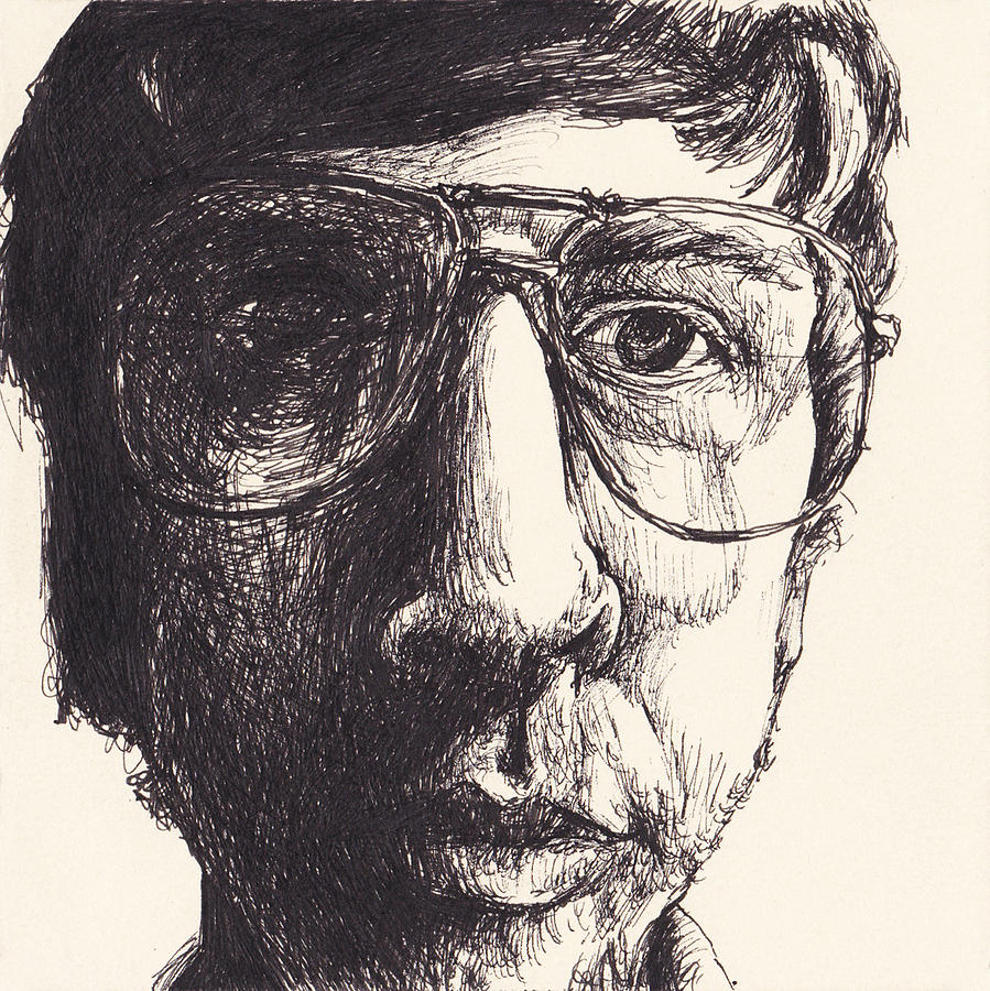 Ink Drawing - Portrait Of Michael G by Canis Canon