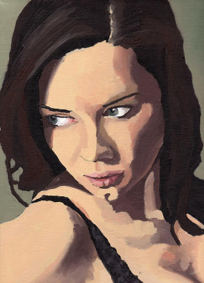 Paintings Painting - Portrait Of Sammy Paige by Stephen Panoushek