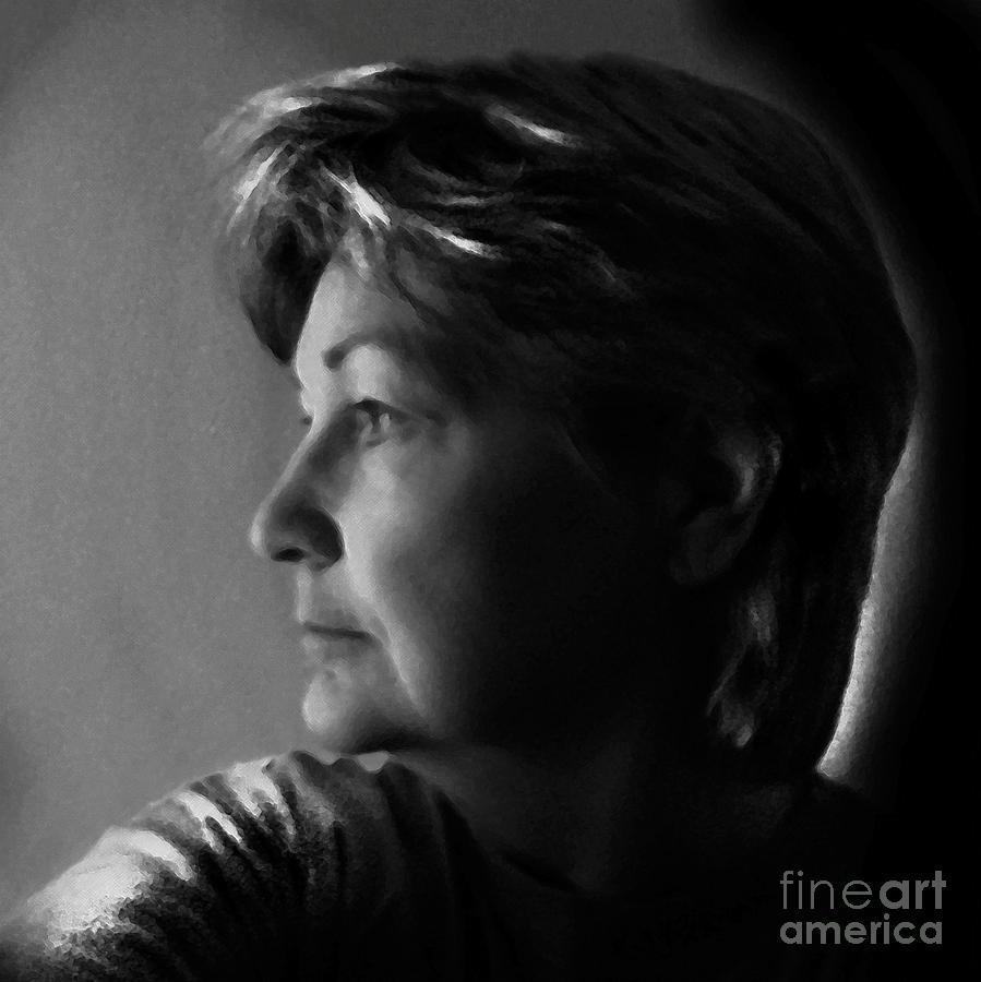Self Portrait Digital Art by Dale   Ford