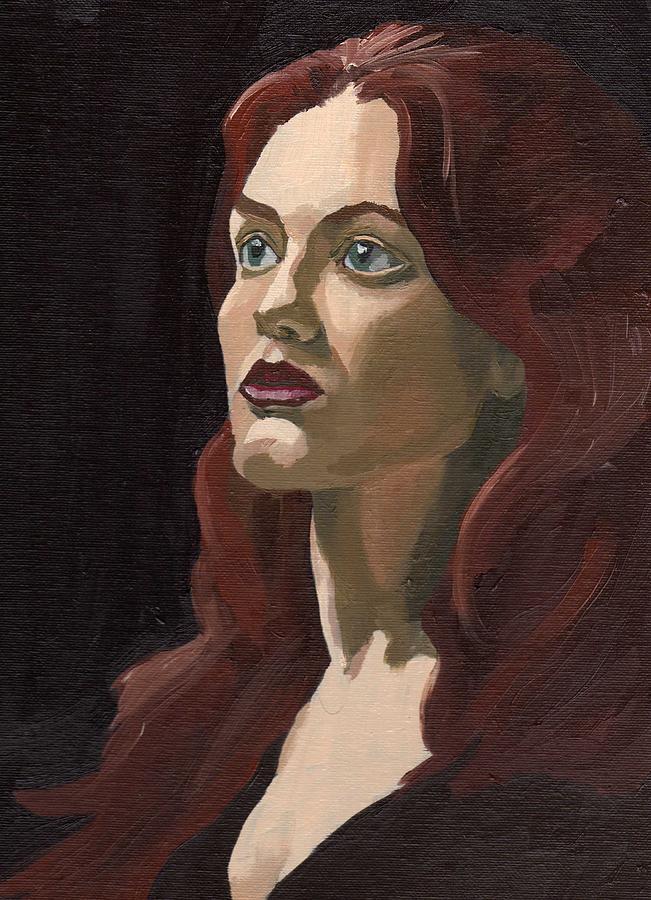 Paintings Painting - Portrait Of Virginia P by Stephen Panoushek