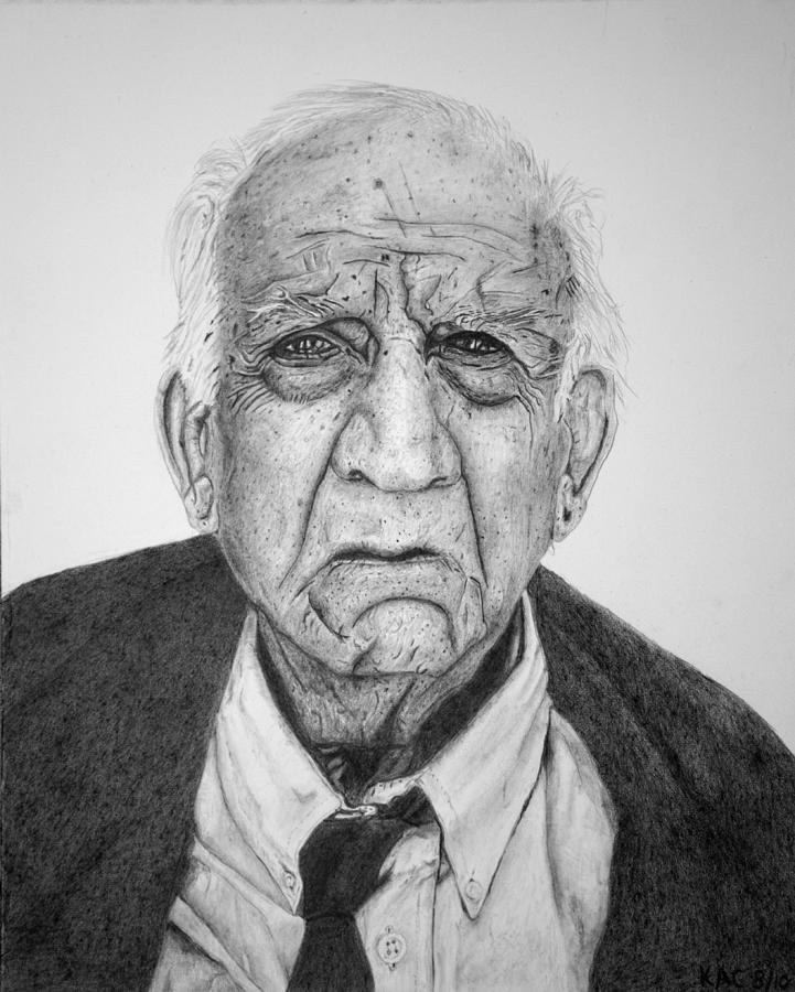 Graphite Drawing - Portrait Of Wall Street by Kenny Chaffin