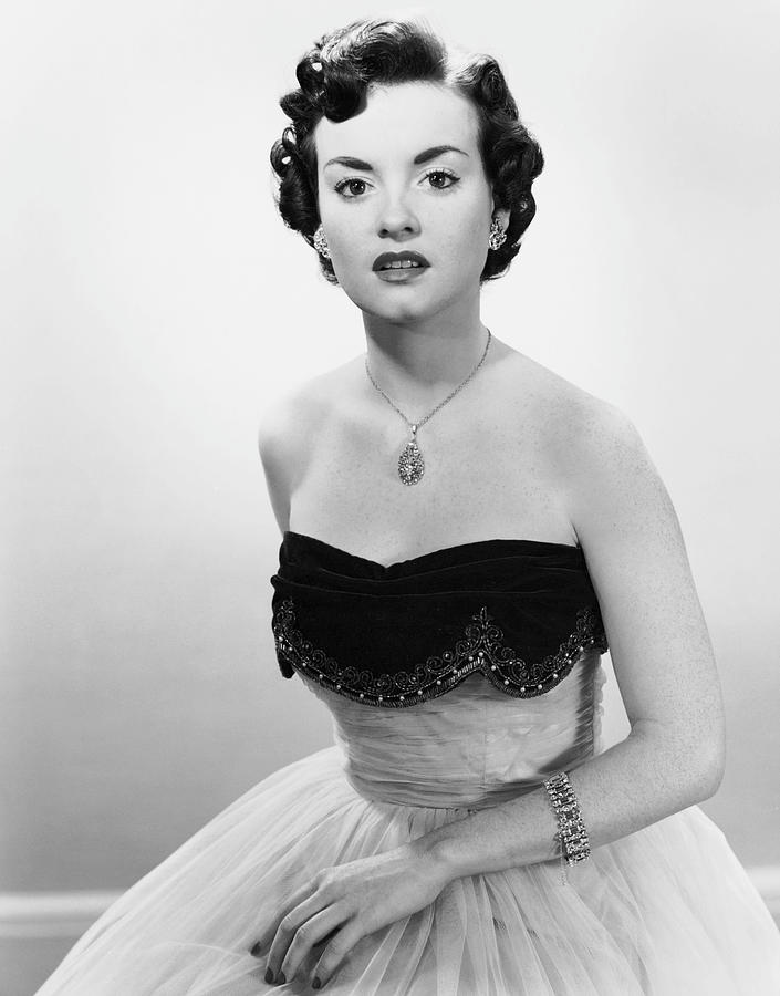 Adults Only Photograph - Portrait Of Woman In Evening Wear & Jewelry by George Marks