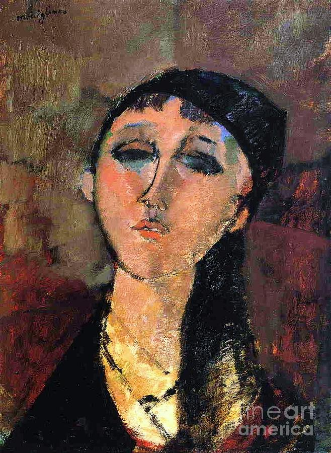 Pd Painting - Portrait Of Young Girl  Louise by Pg Reproductions