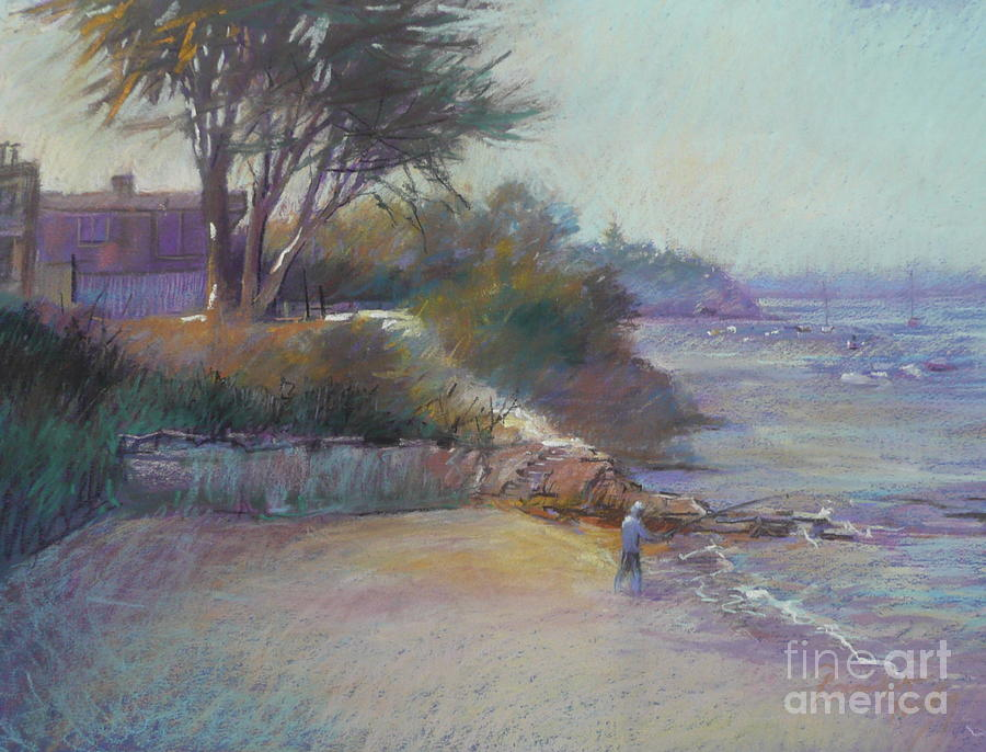 Seascape Painting - Portsea Evening by Pamela Pretty