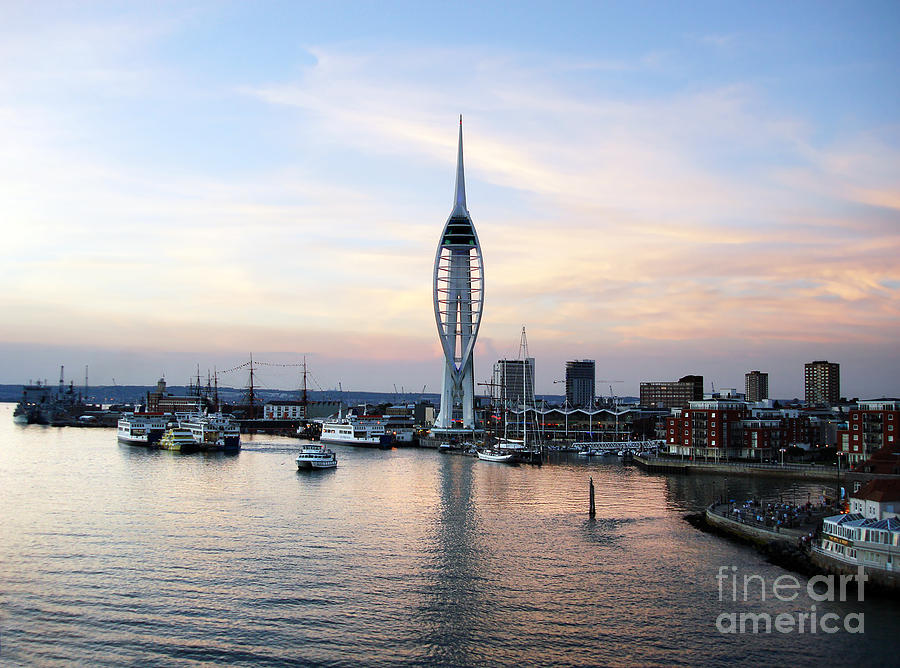 Architecture Photograph - Portsmouth Waterfront by Jane Rix