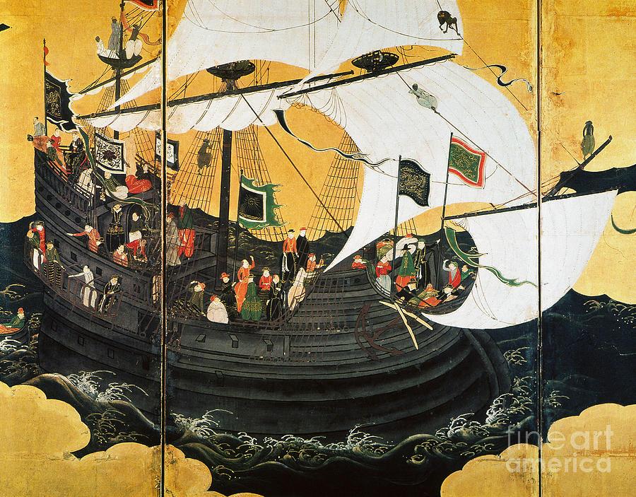 16th Century Photograph - Portuguese Galleon by Granger