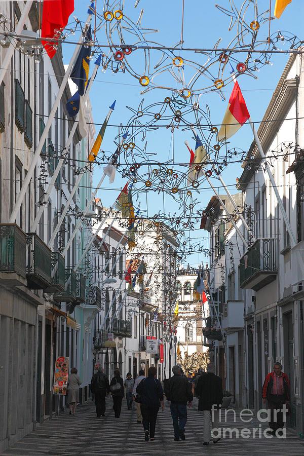 Street Photograph - Portuguese Street by Gaspar Avila