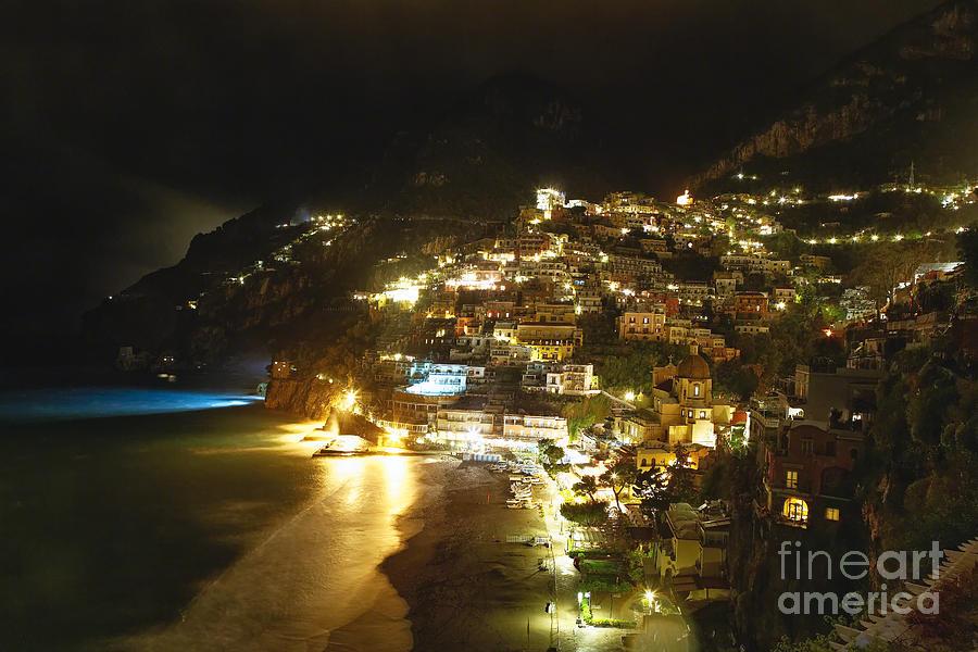 Nightscape Photograph - Positano Nightscape by George Oze