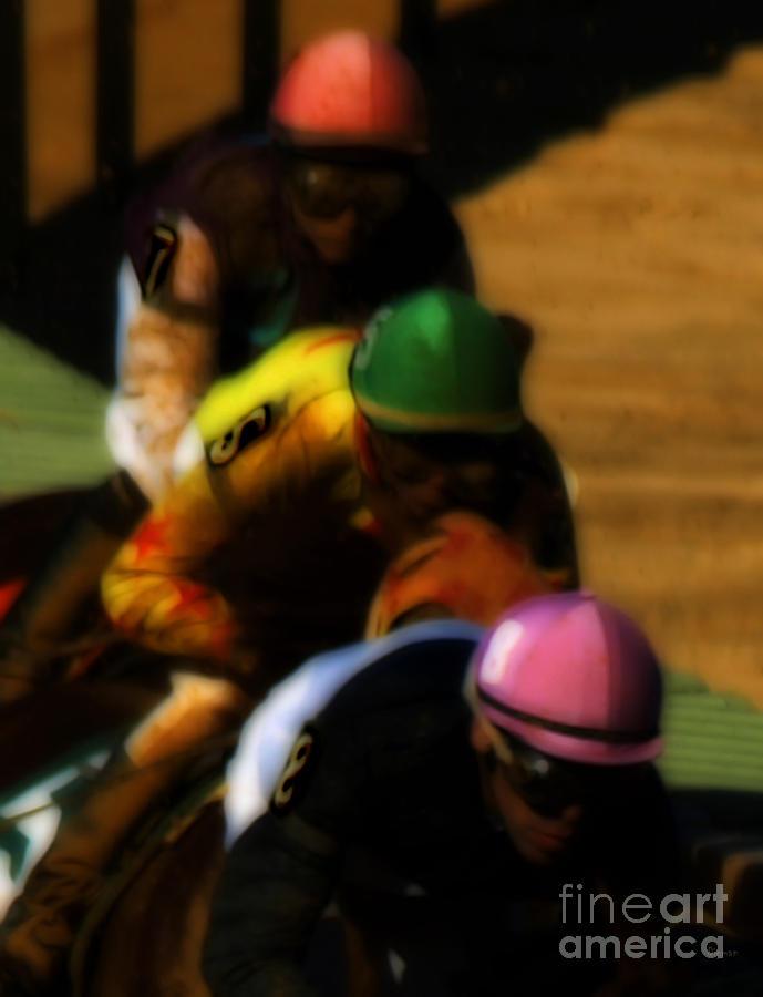 Horse Race Photograph - Positional Colors   by Steven Digman