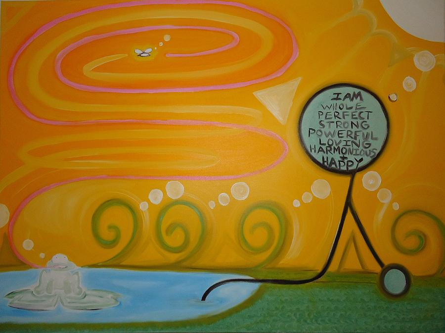 Positive Painting - Positive Pondering by Cory Green