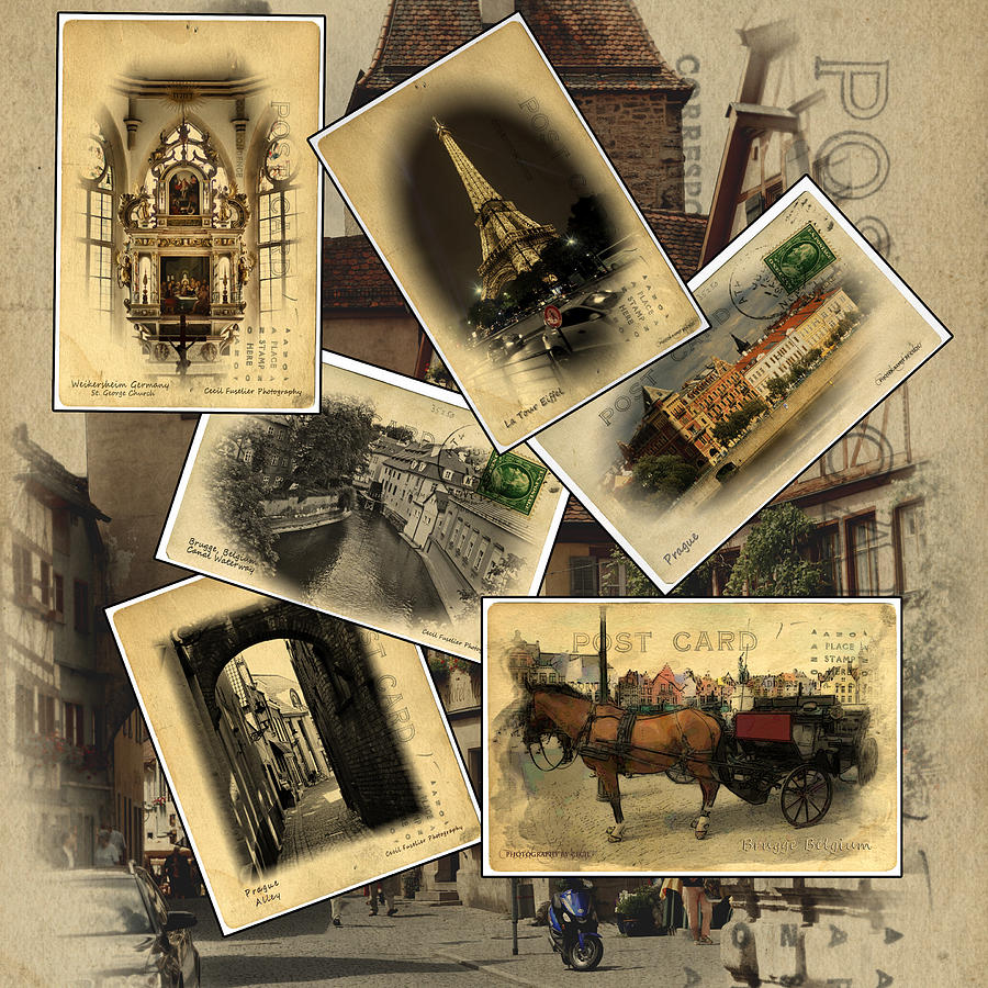 Postcards Photograph - Postcards From Europe by Cecil Fuselier