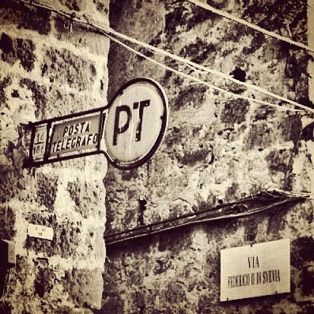 Old Photograph - Poste E Telegrafi, Casertavecchia by Gianluca Sommella