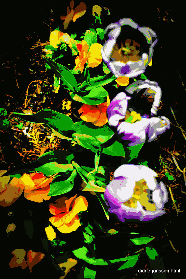 Tulips Photograph - Poster Girls by Diane montana Jansson
