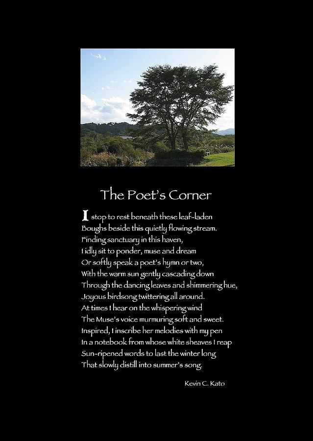 Landscape Photograph - Poster Poem - The Poets Corner by Poetic Expressions