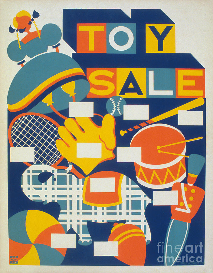 1940 Photograph - Poster: Toys, C1940 by Granger