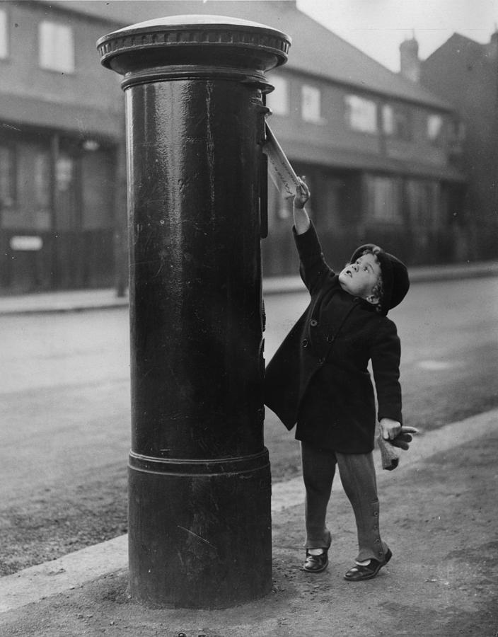 Child Photograph - Posting A Letter by N Smith
