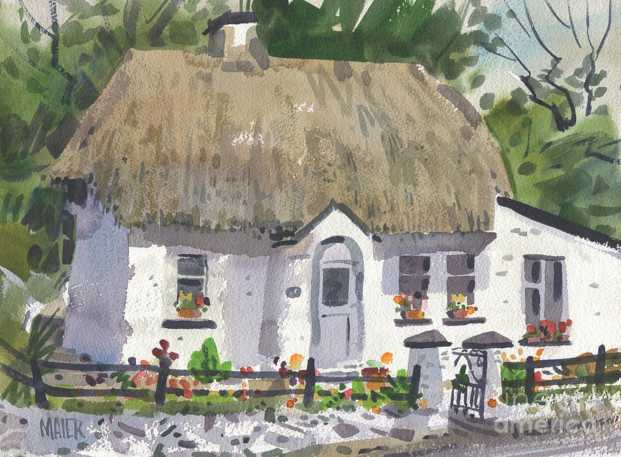 Screen Painting - Postmans Cottage by Donald Maier