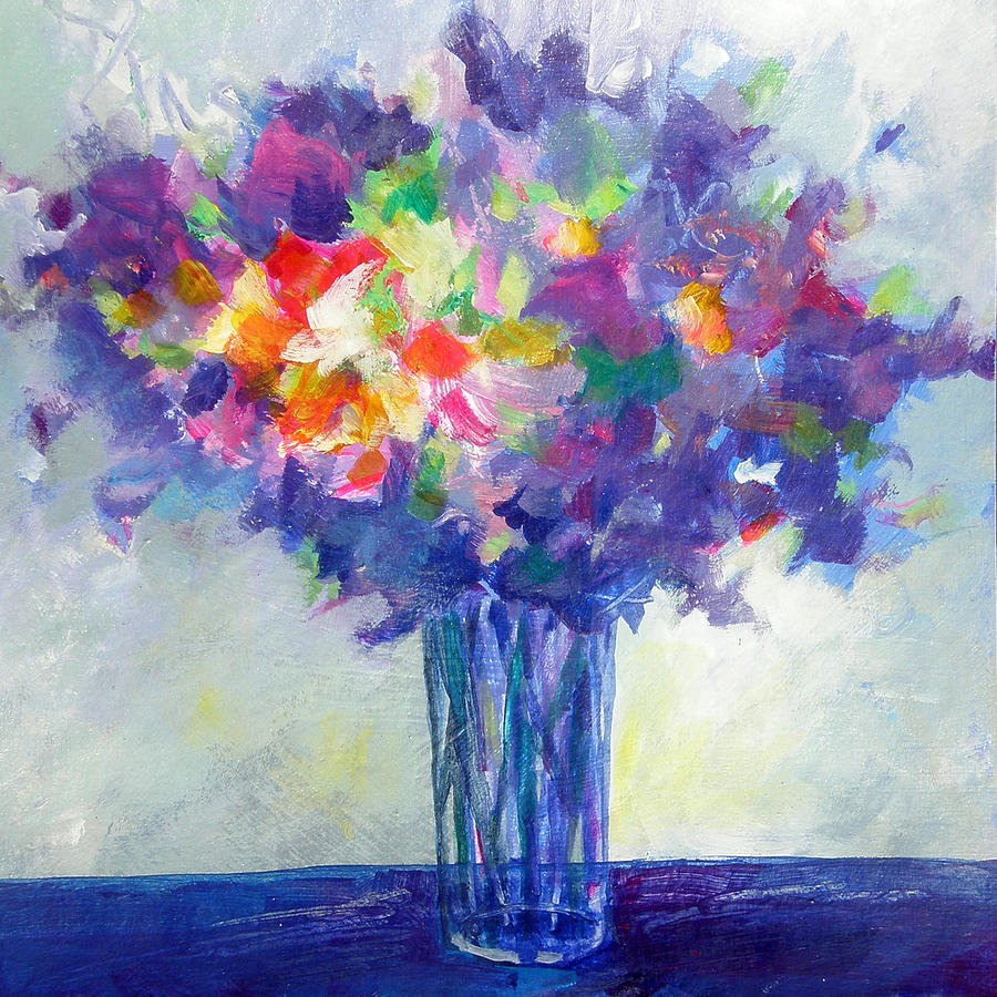 Posy In Lavender And Blue