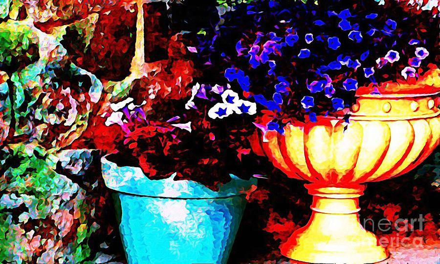Pots Digital Art Digital Art - Pot Culture 2 by Ankeeta Bansal