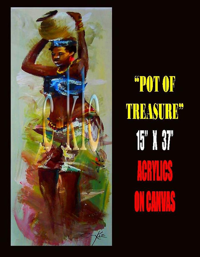Pot Of Tresure Painting by Clement Martey