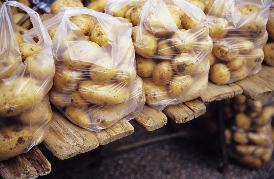 Potato Photograph - Potatoes by Veronique Leplat