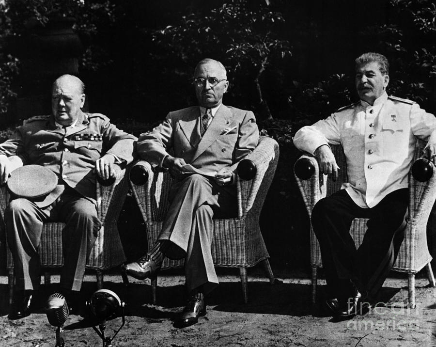 Potsdam Conference, 1945. Allied Leaders At The Potsdam Conference ...
