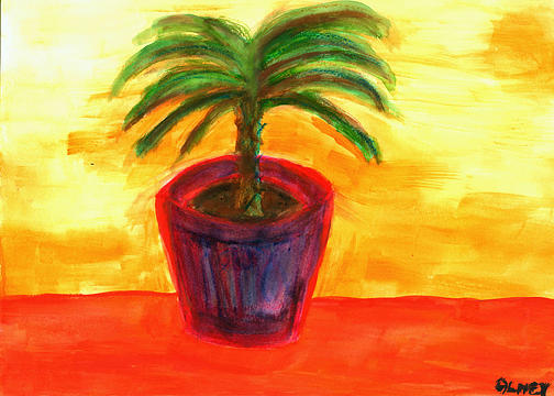 Palm Painting - Potted Palm  by Carolyn Olney