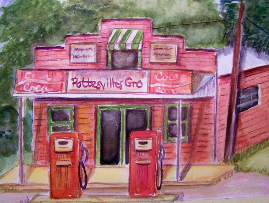 Watercolor Painting - Pottesville Gro. by Belinda Lawson