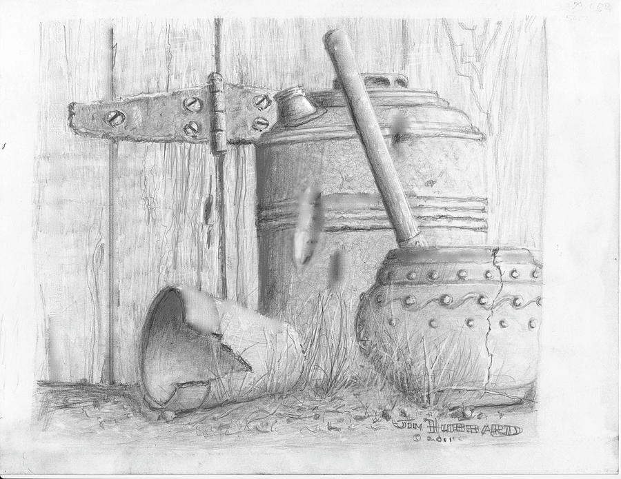 Still Life Drawing - Potting Shed by Jim Hubbard