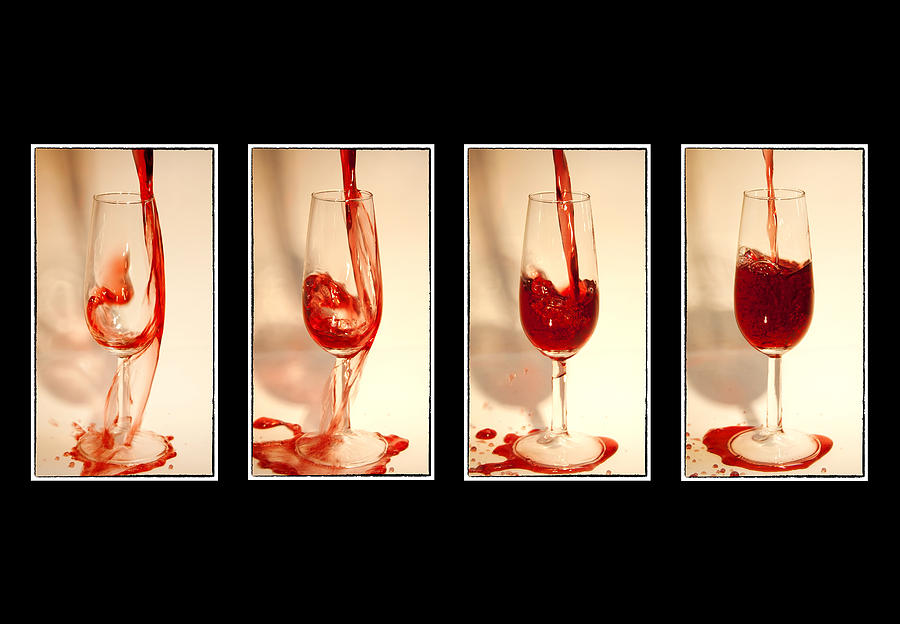 Abstract Photograph - Pouring Red Wine by Svetlana Sewell