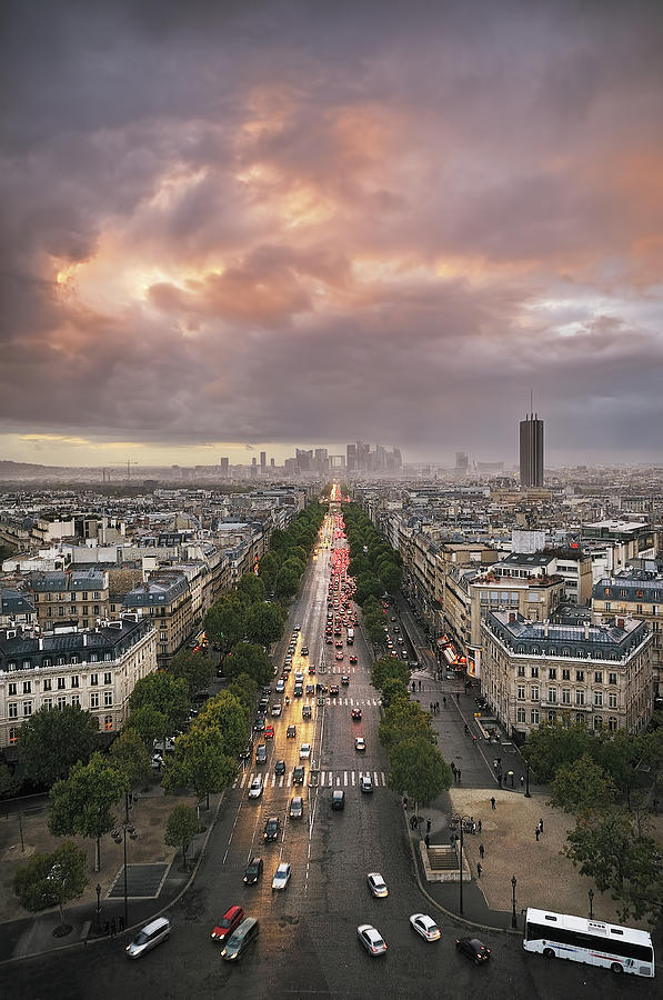 Vertical Photograph - Pov From Arch Of Triumph by © Yannick Lefevre - Photography