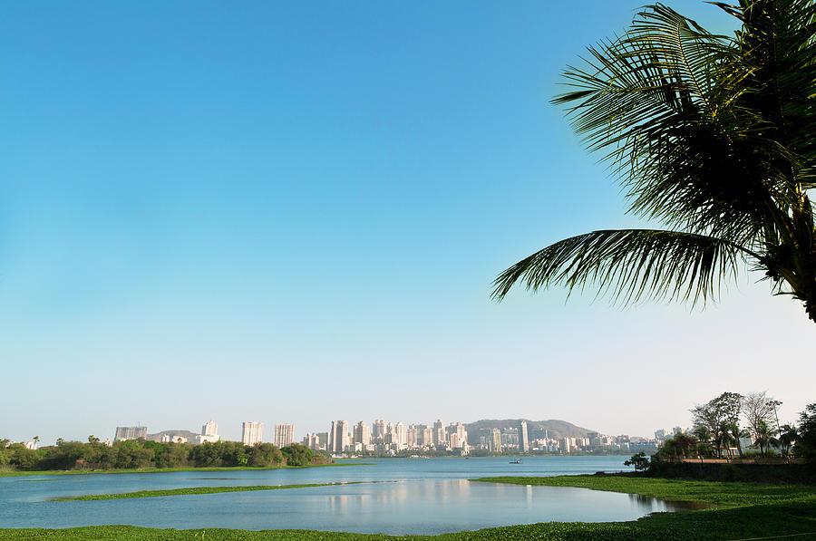 Horizontal Photograph - Powai - Suburb Of Mumbai by Ixefra